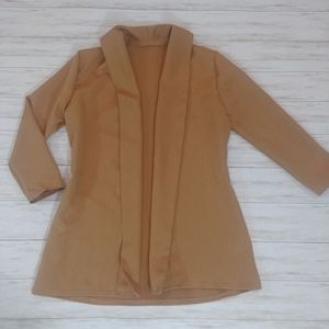 Hand Home Made Sleek Open Front Cardigan Blazer